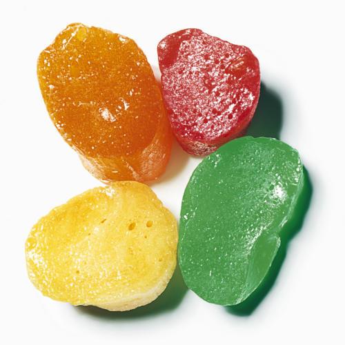 4 bonbons acidulés